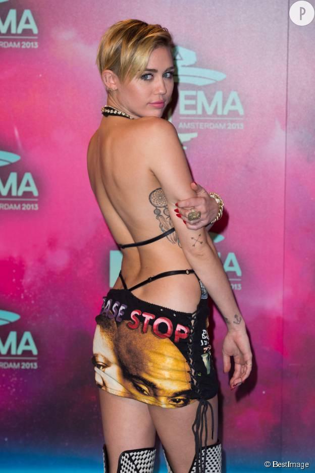 Miley Cyrus aux MTV EMA 2013.
