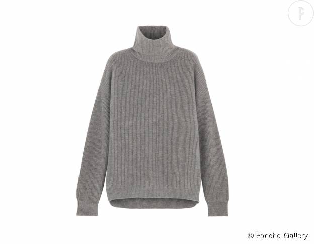 Pull oversize en cachemire Poncho Gallery, 520€.
