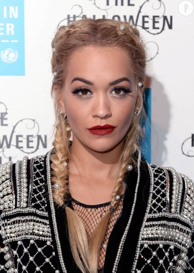 Rita Ora au bal d'Halloween de l'UNICEF, en octobre 2015.