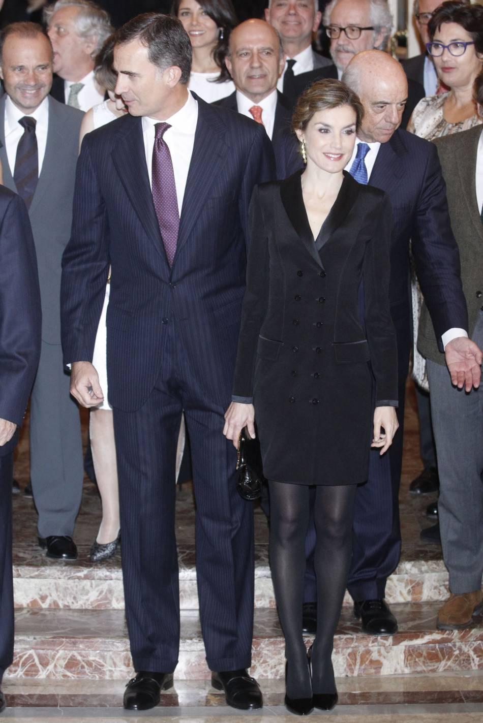 Letizia d'Espagne élégante et sexy ce soir-là.