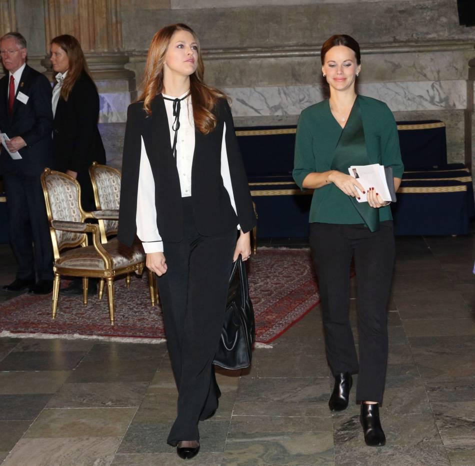 Sofia de Suède était habillée d'une tenue qui camouflait ses rondeurs.