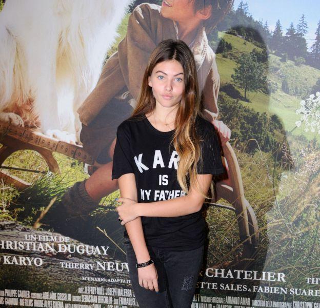 """Thylane Blondeau à la première de """"Belle et Sébastien l'aventure continue"""" à Paris le 29 novembre 2015."""