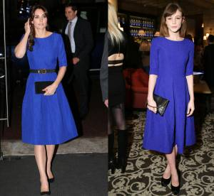 Kate Middleton vs Carey Mulligan : la robe glamour et royale Saloni