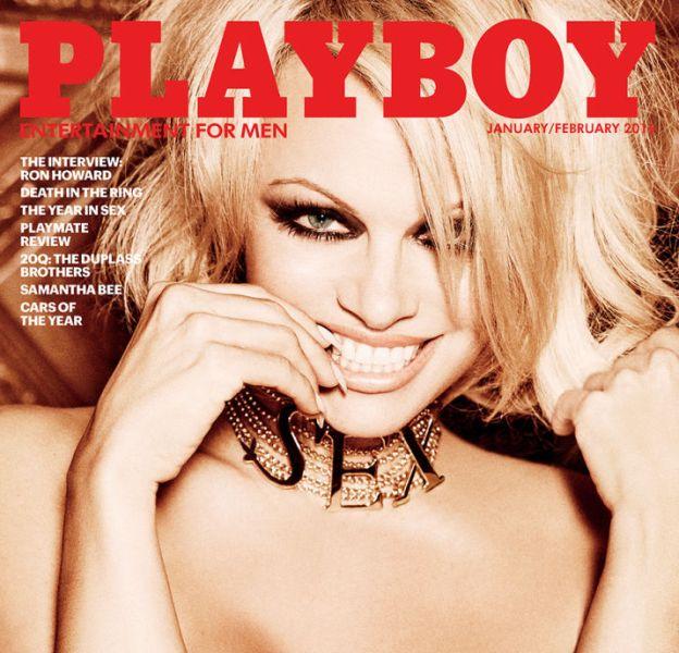 Pamela Anderson, dernière femme nue de Playboy pour le numéro Janvier/Février 2016.
