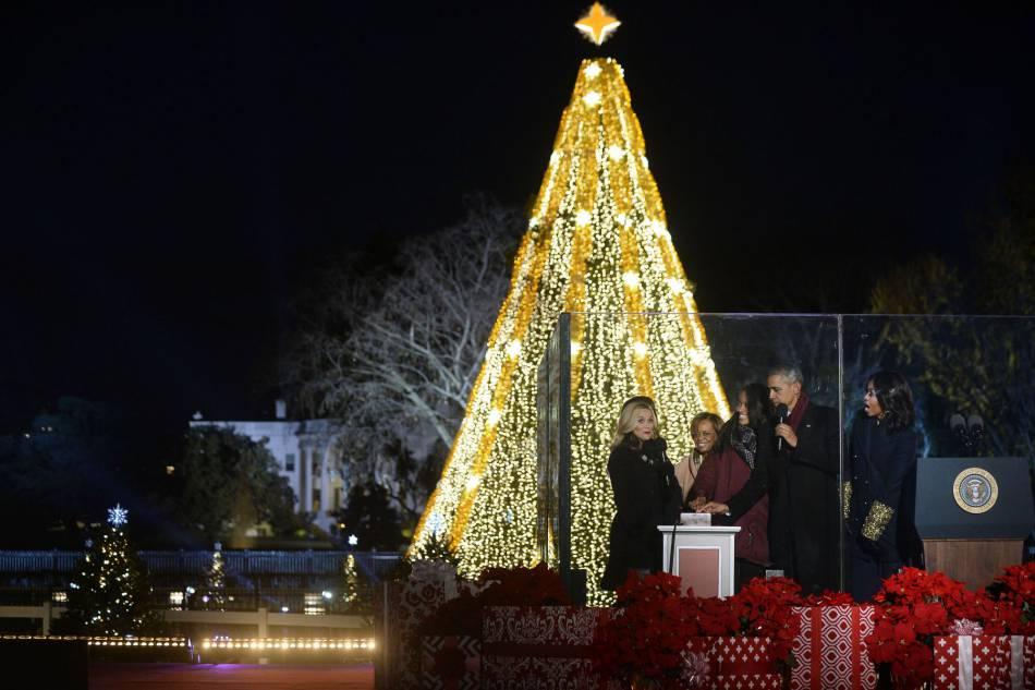 L'arbre de Noël de la Maison Blanche.