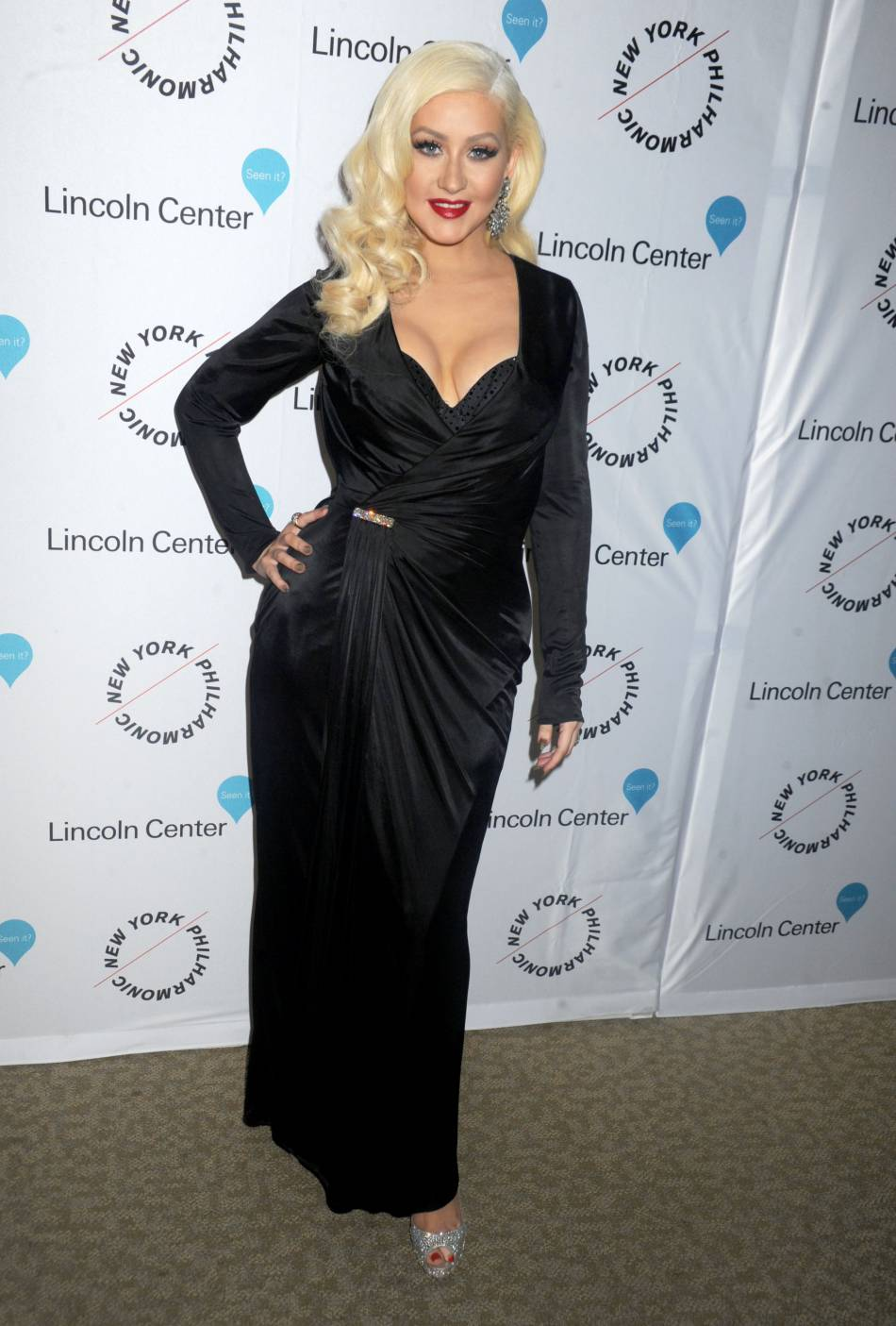 Christina Aguilera à la soirée Sinatra Voice for A Century au David Geffen Hall du Lincoln Center le 3 décembre 2015 à New York.