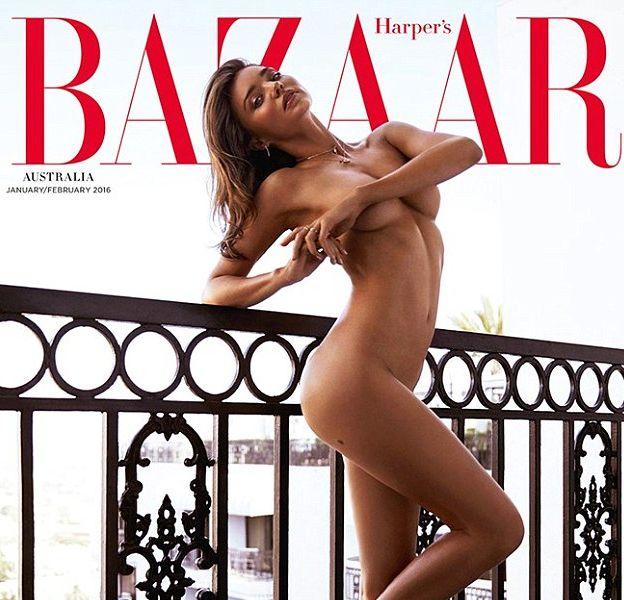 Miranda Kerr pose nue en couv' de Harper's Bazaar Australie de Janvier/février 2016.