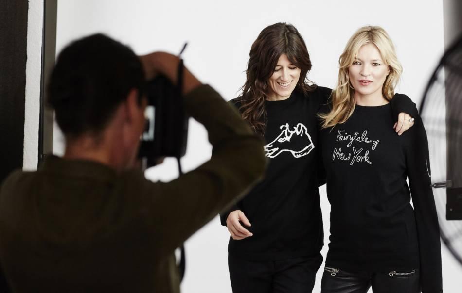 Bella Freud et Kate Moss pour Save The Children.