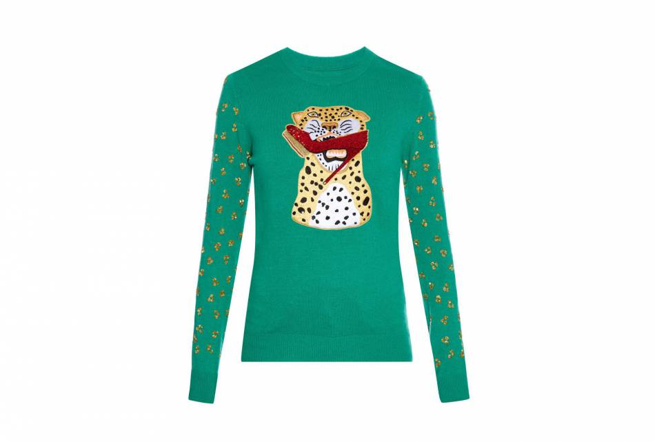 Pull en cachemire Charlotte Olympia x Save The Children sur MatchesFashion, 500€.