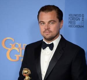 """Leonardo DiCaprio a remporté le Golden Globe du Meilleur acteur pour son interprétation dans """"The Revenant"""" lors de la cérémonie des Golden Globes 2016."""