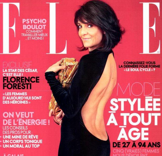 Florence Foresti fait la couverture du nouveau numéro du magazine ELLE.