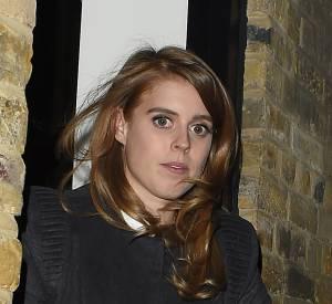 Beatrice d'York quittant un hôtel situé dans le quartier de Marylebone à Londres le 18 février 2016.