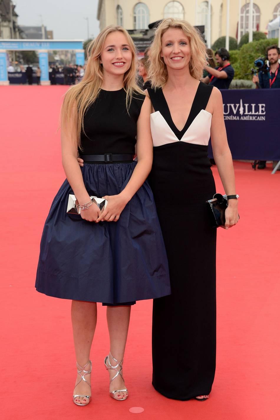 Alexandra Lamy et sa fille à Deauville.