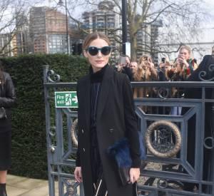 Olivia Palermo toujours aussi stylée au défilé Topshop Unique Automne-Hiver 2016/2017 au Tate Britain de Londres le 21 février 2016.