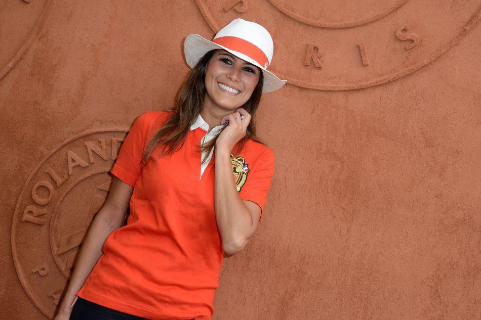 Karine Ferri à Roland-Garros l'an dernier. La jeune maman vit le bonheur parfait avec le footballeur Yoann Gourcuff.