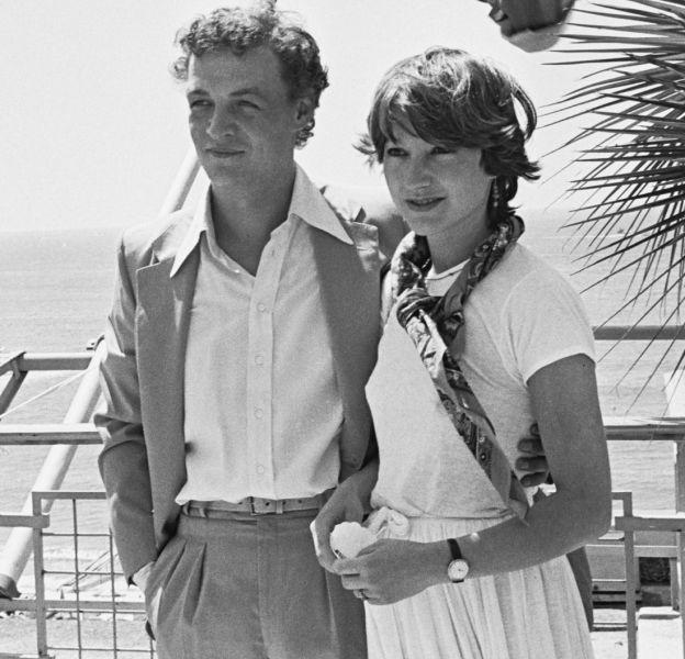 Nathalie Baye et Philippe Léotard, son premier amour, en 1977, au Festival de Cannes.