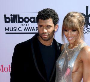 Ciara et Russell Wilson à la cérémonie des Billboard Awards, après leurs fiançailles en grande pompe.
