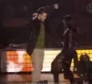 Justin Timberlake et Janet Jackson lors du Superbowl en 2004.