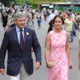 Michael Middleton et sa fille Pippa : la famille de la duchesse de Cambridge adore Wimbledon.