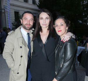 Guillaume Gouix, Béatrice Dalle et Alysson Paradisau cocktail à l'hôtel Potocki à l'occasion du 5ème Champs Elysées Film Festival à Paris le 11 juin 2016.