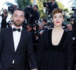 """Alysson Paradis et Guillaume Gouix, très beaux pour la montée des marches du film """"Mal de pierres"""" lors du 69e Festival International du Film de Cannes, le 15 mai 2016."""