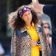 Dans les rues de New York, la chanteuse a posé pour les photographes sans une once de maquillage.