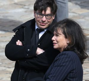 Anne Sinclair et son fils David Levaï.