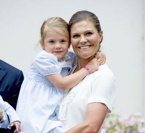 Victoria de Suède avec sa fille Estelle, 4 ans.