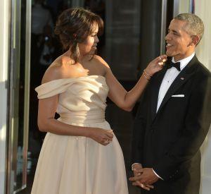 Michelle Obama, s'éclatant sur du Beyoncé, cela ne nous surprend pas, vu la relation des deux femmes.