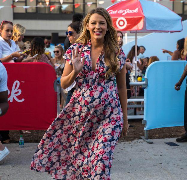 Blake Lively, la future maman était présente pour la soirée de lancement de la marque Cat et Jack by Target hier soir.