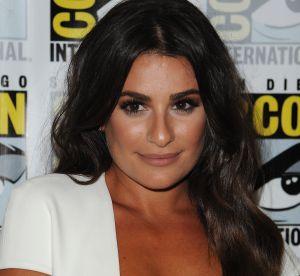 Lea Michele : en robe blanche décolletée, une bombe virginale au Comic Con