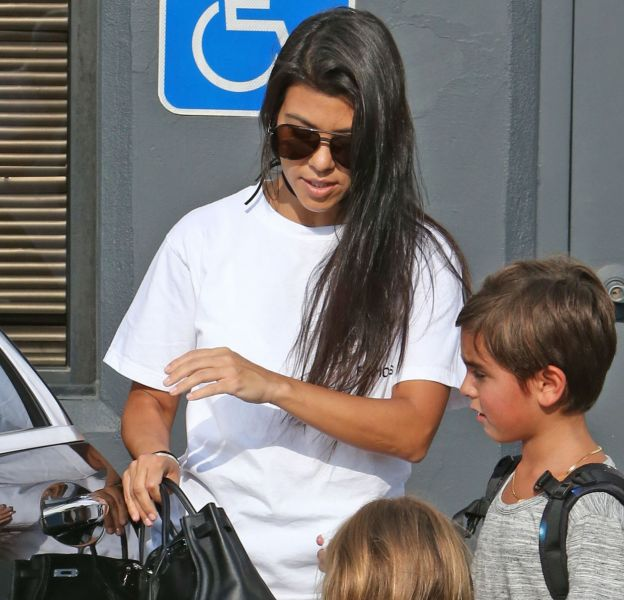 Kourtney Kardashian et ses enfants à Los Angeles