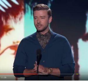 Discours de Justin Timberlake, sacré artiste de la décennie au Teen Choice Awards.