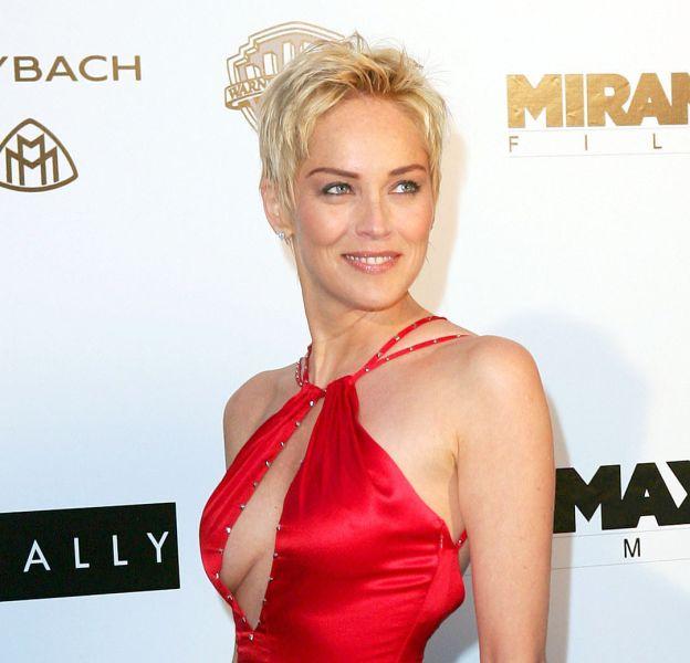 Sharon Stone, une blonde toujours aussi sculpturale.