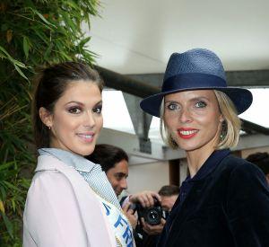 Iris Mittenaere (Miss France 2016) et Sylvie Tellier à Roland-Garros à Paris 5 juin 2016.