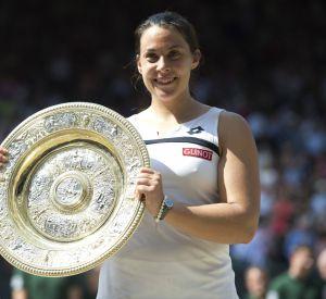 Marion Bartoli lors de sa victoire au tournoi de Wimbledon, il y a trois ans.