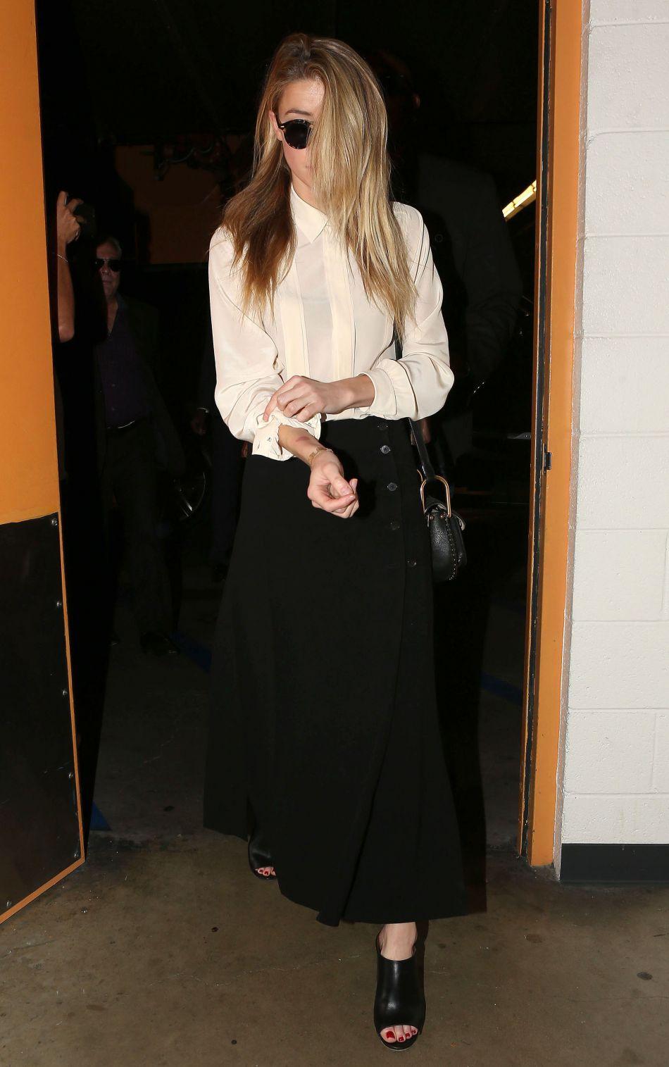 Amber Heard s'est rendue au tribunal le 6 août dernier pour enregistrer sa déposition.