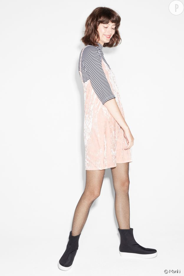 Robe velours, Monki, 30€.