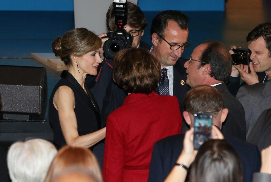 Elle y a notamment rencontré François Hollande.