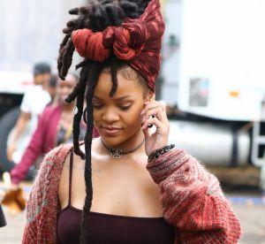 Rihanna : treillis et dreadlocks sur le tournage de Ocean 8