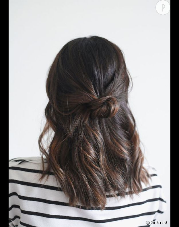 coiffure mini-bun facile