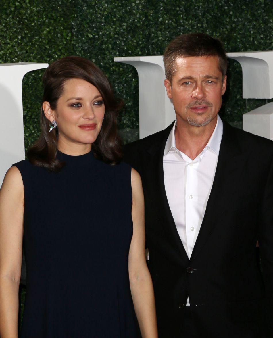 Marion Cotillard et Brad Pitt se retrouvent pour l'avant-première de leur prochain film.