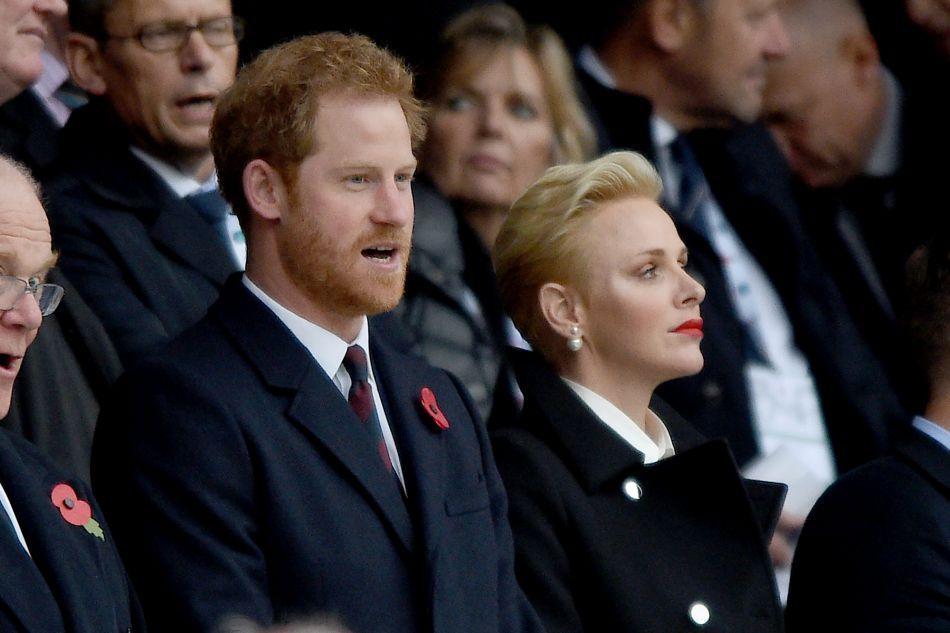La princesse assistait au match de rugby opposant l'Angleterre et l'Afrique du Sud.