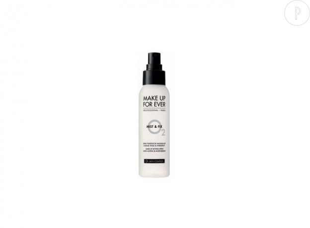 Mist & Fix, brume fixatrice de maquillage, Make Up For Ever, en exclu chez Sephora, 11€.