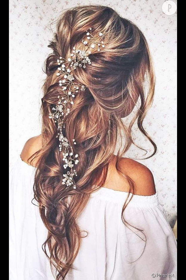 Coiffure mariage cheveux tres longs