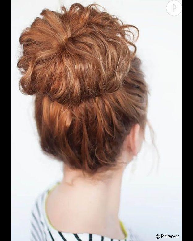 Chignon sur cheveux long