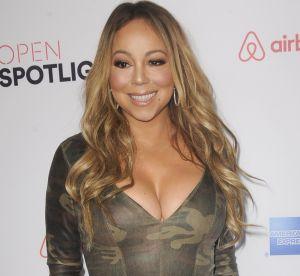 Mariah Carey : maxi décolleté et robe militaire ultra moulante