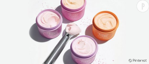 Clinique Happy Gelato Cream, crème pour le corps en pot de glace.