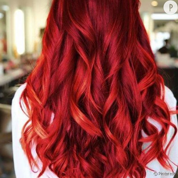 Photo de couleur de cheveux rouge
