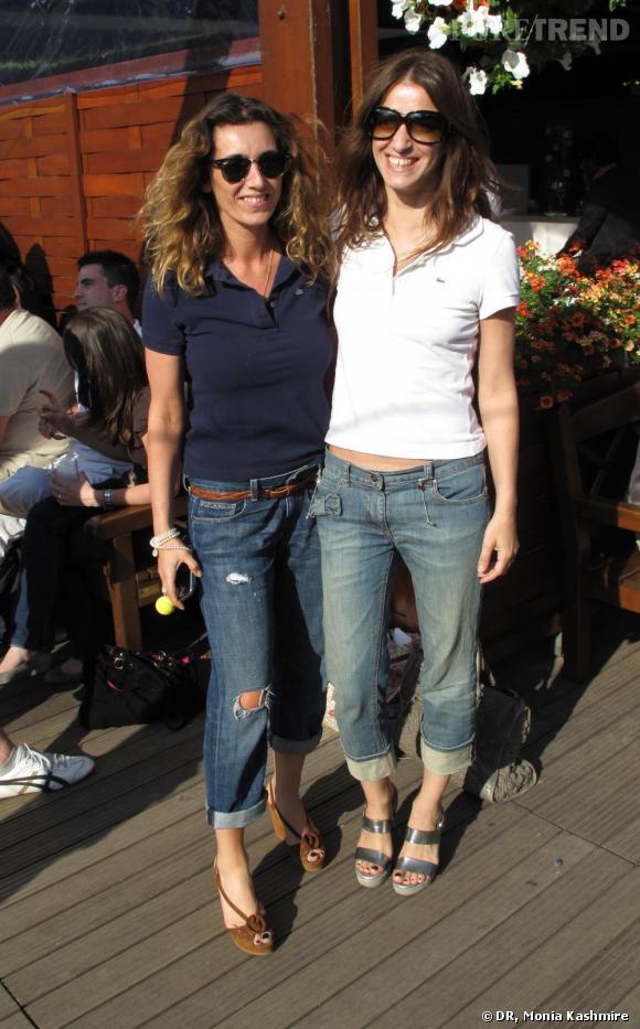 Mademoiselle Agnès et Joana Preiss à Roland Garros